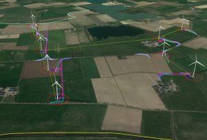 Den Tol Wind Farm layout